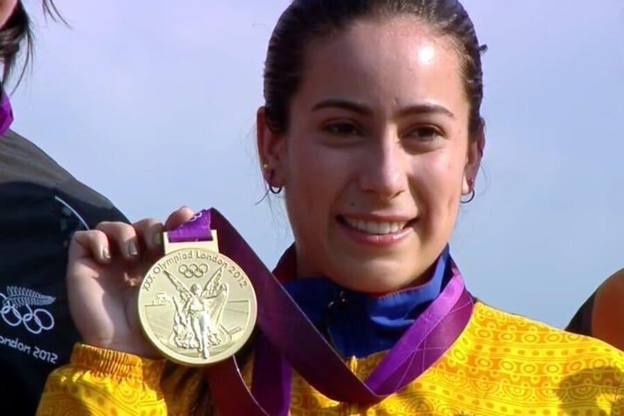 La deportista colombiana Mariana Pajón gana medalla de plata