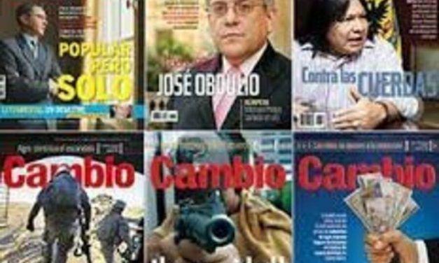 Regresa revista «Cambio» en Colombia